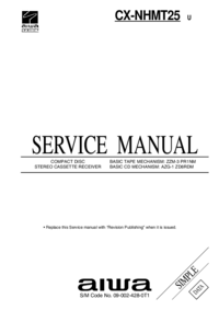 Manual de servicio Aiwa CX-NHMT25 U