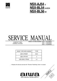 Service Manual Aiwa NSX-BL54 K