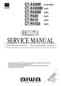Manual de servicio Aiwa CT-X430M  YU