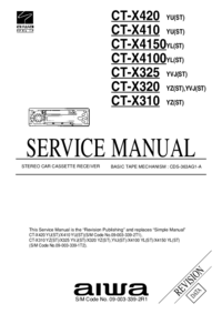 Service Manual Aiwa CT-X420 YU(ST)