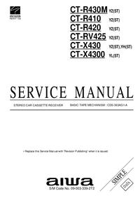 Manuale di servizio Aiwa CT-X430 YZ(ST)