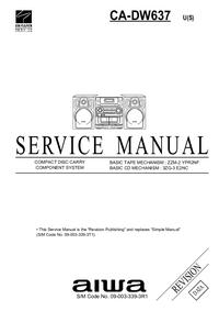 Manual de serviço Aiwa CA-DW637 U(S)