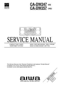Руководство по техническому обслуживанию Aiwa CA-DW247 U(S)