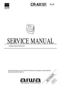 manuel de réparation Aiwa CR-AX101 YZ