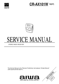 Manual de servicio Aiwa CR-AX101W YU(VT)