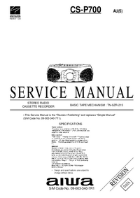 Service Manual Aiwa CS-P700 AU(S)