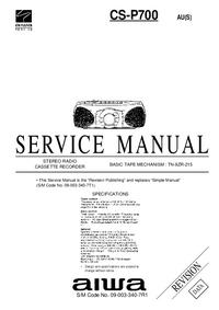 Manual de serviço Aiwa CS-P700 AU(S)