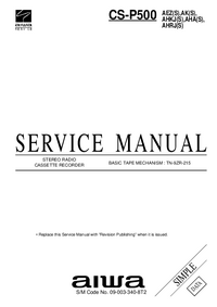 Manual de servicio Aiwa CS-P500 AEZ(S)