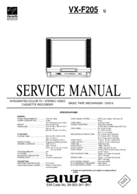 Manual de serviço Aiwa VX-F205 U