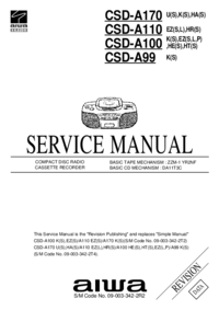 Manual de servicio Aiwa CSD-A110 HR(S)