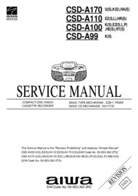 Servicehandboek Aiwa CSD-A100 HE(S)