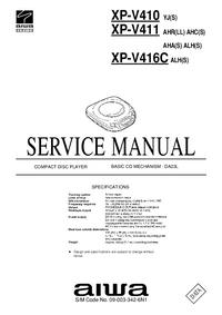 Руководство по техническому обслуживанию Aiwa XP-V411 AHR(LL)