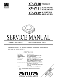 Manual de servicio Aiwa XP-V410 Y1(S)