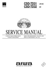 Servicehandboek Aiwa CSD-TD31 LHS US