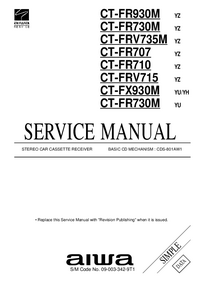 Manual de servicio Aiwa CT-FR930M YZ