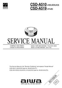 Serviceanleitung Aiwa CSD-A510 LH(S)