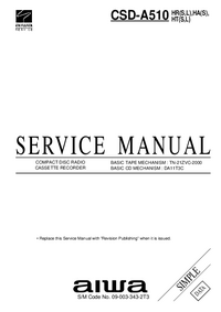Service Manual Aiwa CSD-A510 HR(L)