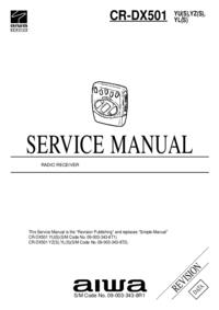 Manual de servicio Aiwa CR-DX501 YL(S)