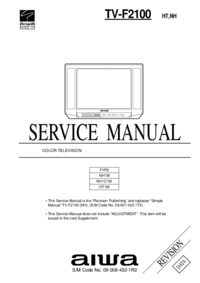Manual de servicio Aiwa TV-F2100