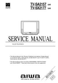 Manual de servicio Aiwa TV-SX2177