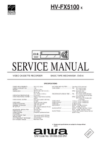 Instrukcja serwisowa Aiwa HV-FX5100