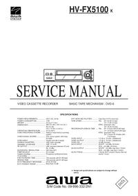 Manual de serviço Aiwa HV-FX5100