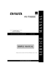 Manual de servicio Aiwa HV-FX6500