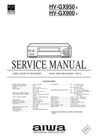 Service Manual Aiwa HV-GX950