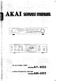 Manual de servicio Akai AM-U02