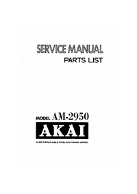 Manual de servicio Akai AM-2950