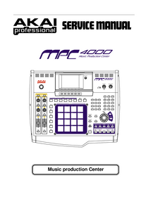 Manual de servicio Akai MPC 4000