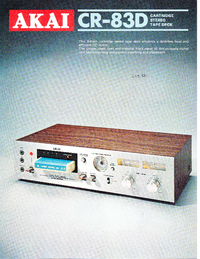 Catalog Akai CR-83D