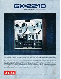 Catálogo Akai GX-221D