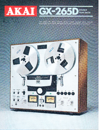 Catalogue Akai GX-265D