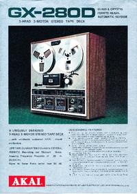 Catálogo Akai GX-280D