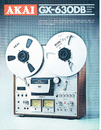 Catalogue Akai GX-630DB