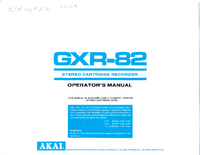 User Manual Akai GXR-82