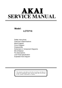 Manual de serviço Akai LCT2716