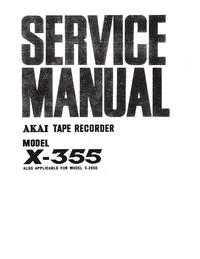 Service Manual Akai X-355