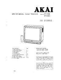 Service Manual Akai CT-2160