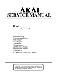 Manuale di servizio Akai LCT2715