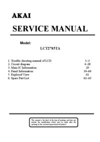 Instrukcja serwisowa Akai LCT2785TA