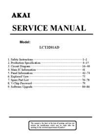 Instrukcja serwisowa Akai LCT3201AD