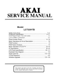 Serviceanleitung Akai LCT3201TD
