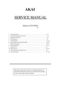 Manual de serviço Akai LCT3785TA
