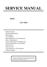 manuel de réparation Akai LCT-4216