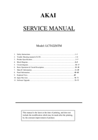 Service Manual Akai LCT42Z6TM