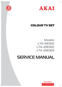 Service Manual Akai LTA-15E302