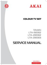 Manual de serviço Akai LTA-20E303