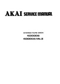 Service Manual Akai 4000DS Mk-II